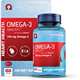 Oceanblue Omega-3 Minicaps – 60 ct – Small Easy to Swallow Burpless Omega-3 Fish Oil Supplement with an Ideal Daily Dose of E
