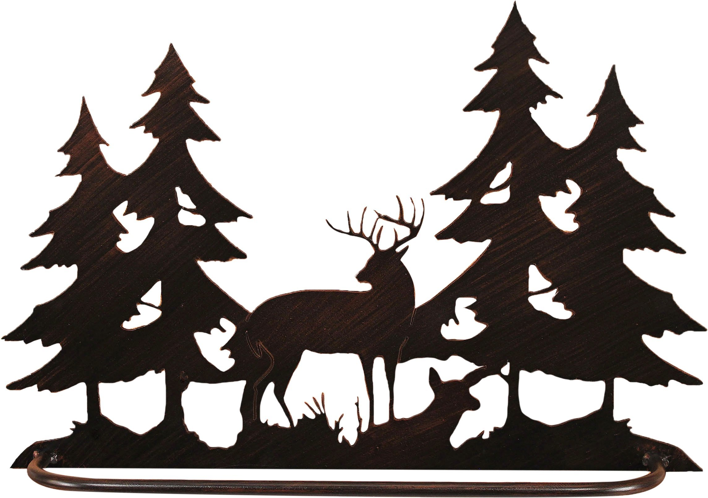 Coast Lamp Iron Deer Scene Towel Bar