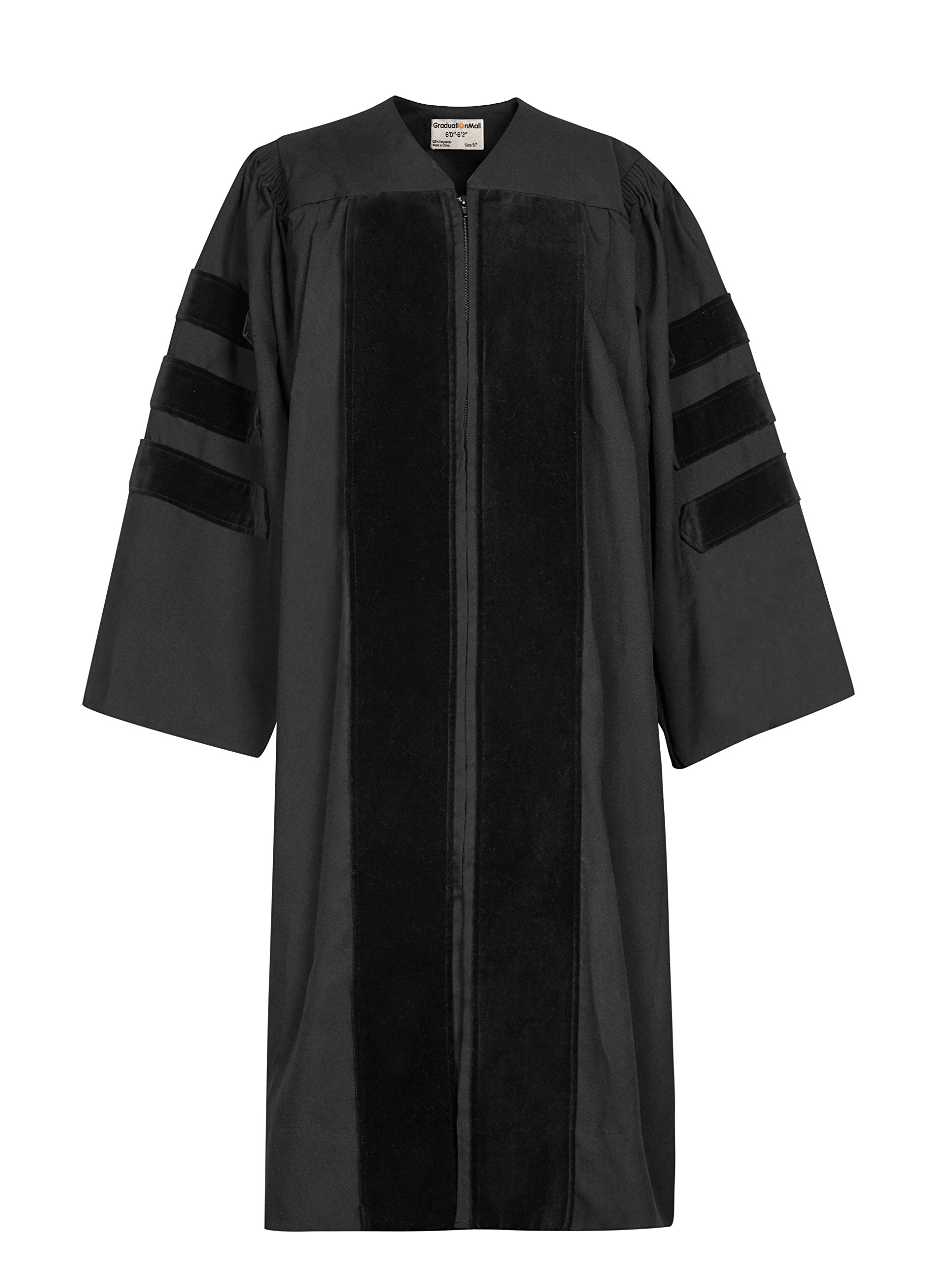 GraduationMall Unisex-adult's Classic Doctoral Graduation Gown 48(5'3''-5'5'')