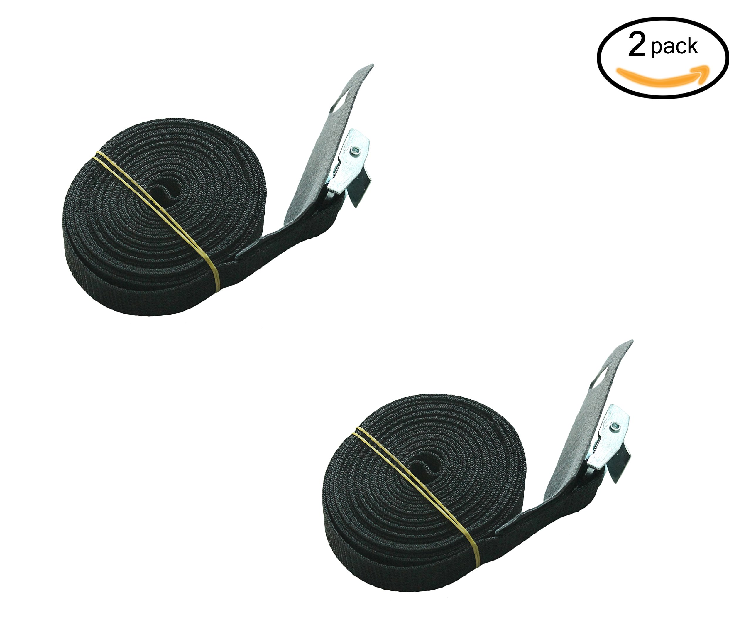 Surfboard/Kayak/SUP Tie-down Lashing Strap up to 600lbs, 1 inch X 12 foot with ZINC PLATED STEEL CLAMP Buckle