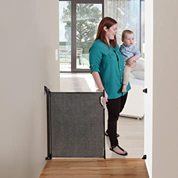 Dreambaby Retractable Gate Black Fits Gaps Up To 140cm Amazon