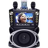 """Karaoke USA Karaoke System - Portable, Black, 18.50"""" x 13.60"""" x 10.70"""" (GF844)"""