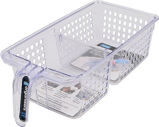 2er Set Kühlschrank Organizer Kühlschrank Box Korb Aufbewahrungsbox Tansparent