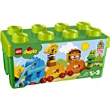 LEGO 10863 DUPLO My First Animal Brick Box Construction Set, Easy Toy Storage Preschool Toys for Kids 1,5-3