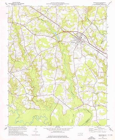 Princeton Nc Map.Amazon Com Yellowmaps Princeton Nc Topo Map 1 24000 Scale 7 5 X