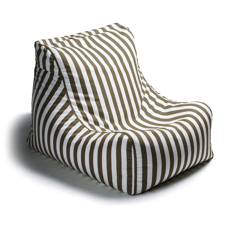 Amazon.com: Jaxx Outdoor Bean Bag Lounge Chair, Ponce, Stripe, Taupe:  Kitchen U0026 Dining