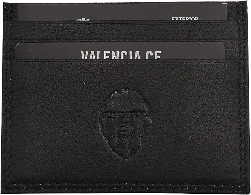 Tarjetero pie Valencia C.F. Oficial Color Negro con Doble Pespunte al Tono y Escudo Grabado: Amazon.es: Zapatos y complementos