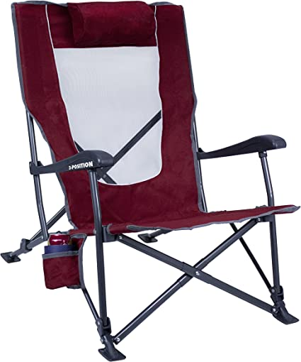 Amazon Com Gci Outdoor Low Ride Reclining Camping Chair Sports