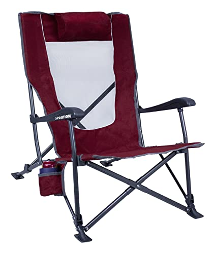 GCI Outdoor Low-Ride Reclining C&ing Chair  sc 1 st  Amazon.com & Amazon.com: GCI Outdoor Low-Ride Reclining Camping Chair: Sports ...