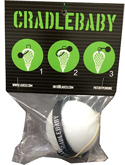 CradleBaby Rubber Lacrosse Ball - Fantastic for Indoor Training