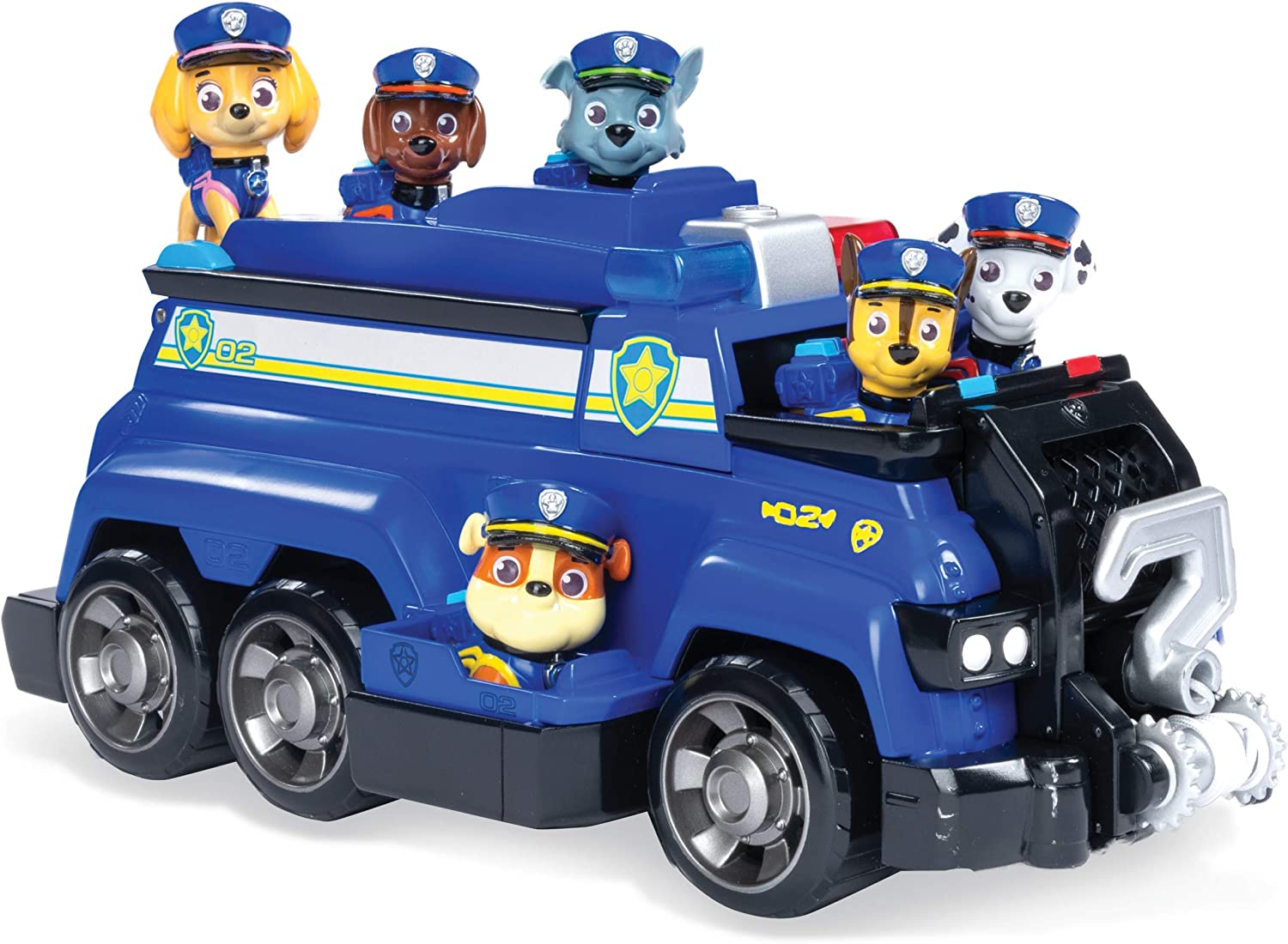 Paw Patrol  Chase s Total Team Rescue Police Cruiser Vehicle with 6 Pups  For Kids Aged 3   Up