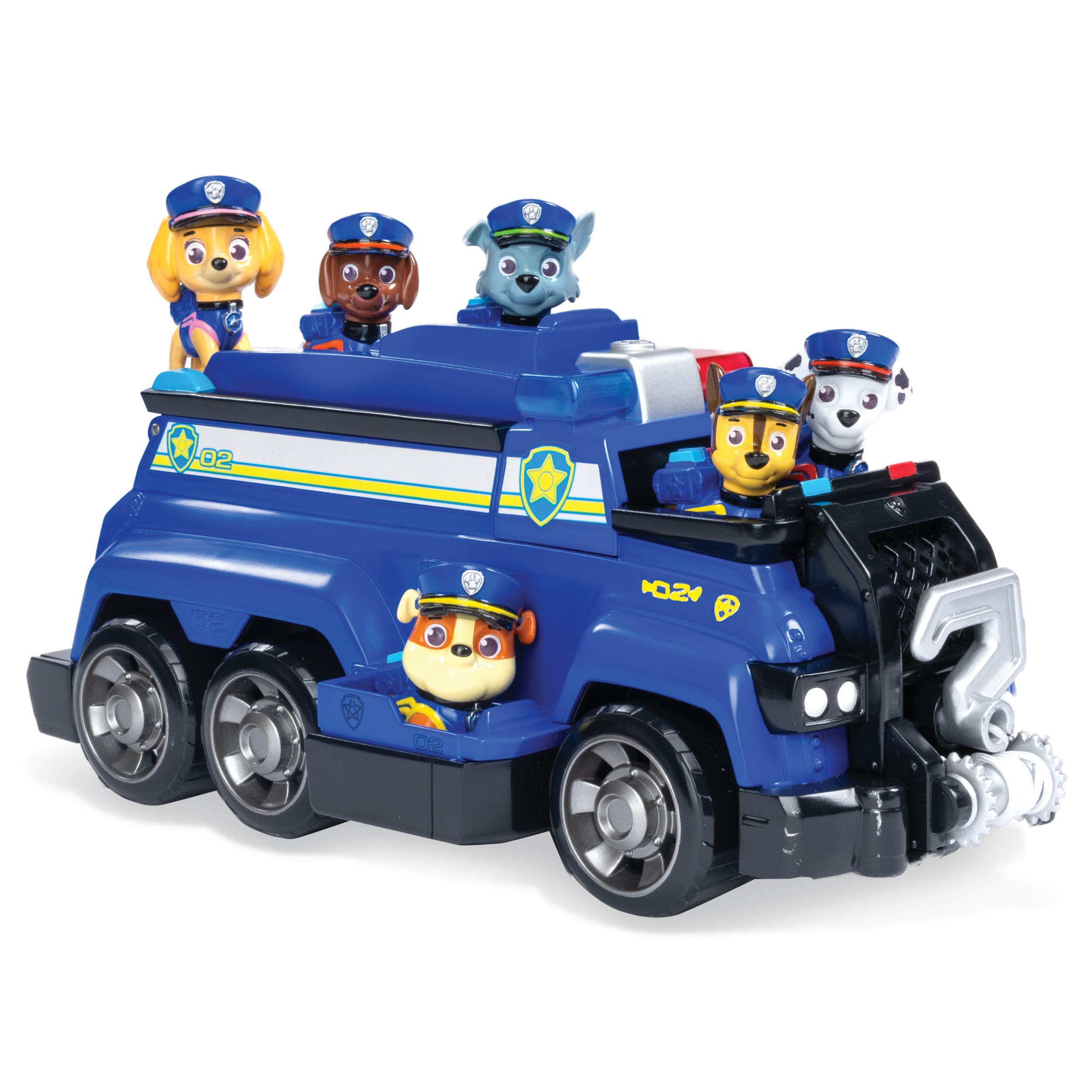 Paw Patrol, Chase's Total Team Rescue Police Cruiser Vehicle with 6 Pups, For Kids Aged 3 & Up by Paw Patrol