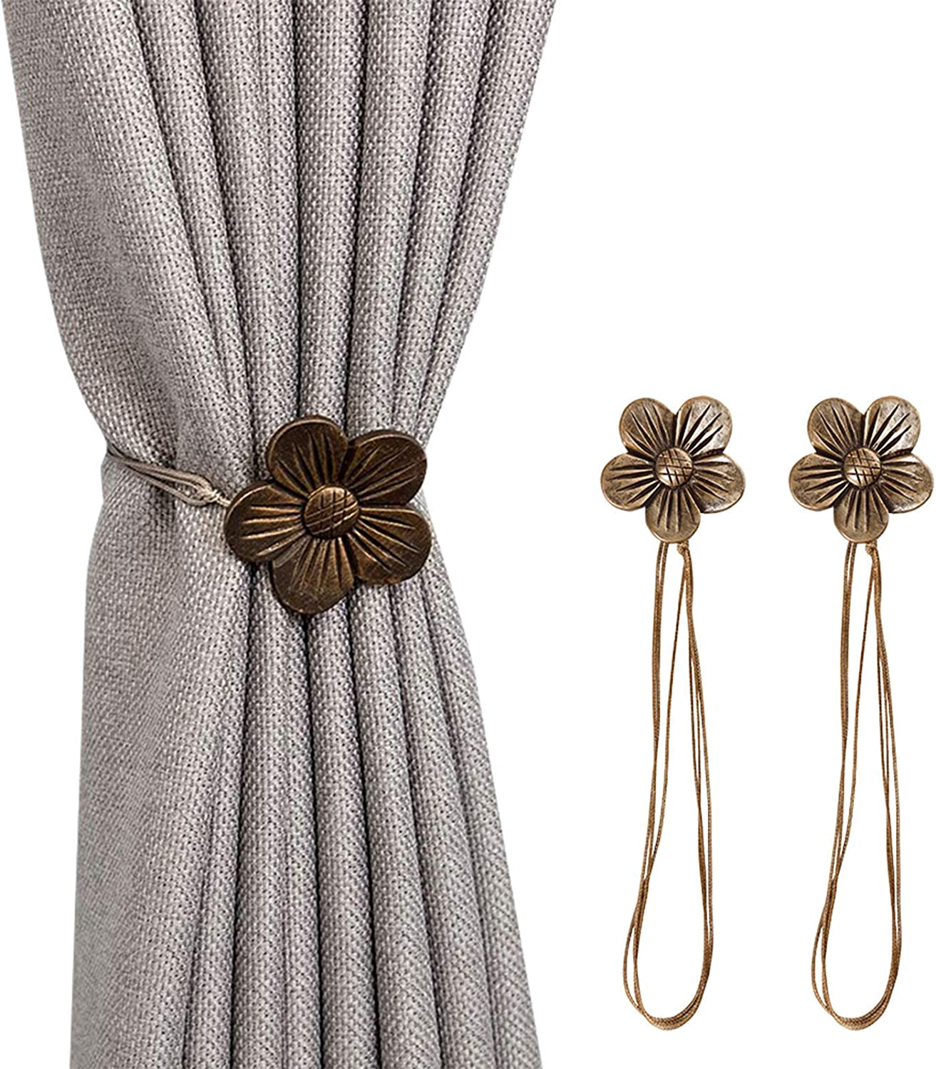 AndEssentials Curtain Tiebacks Magnetic Set of 2 Nautical Coastal Theme Magnetic Tiebacks for Curtains Drapery Holdbacks 2 Pack Outdoor Patio Indoor Room Pool Deck Home D/écor for Beach Homes