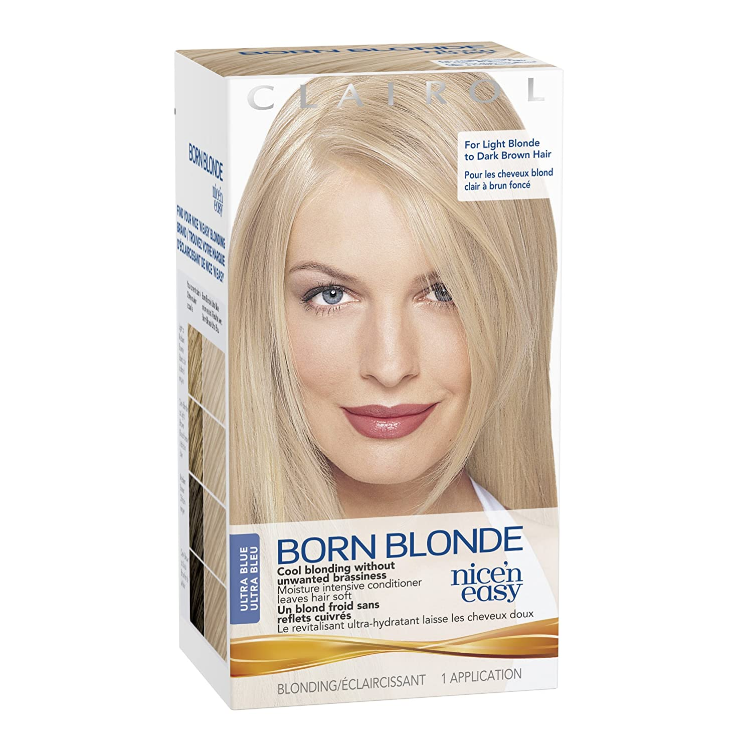 Amazon.com : Clairol Nice U0027N Easy Born Blonde Hair Color, Ultra Blue 1 Kit  (Pack Of 3) : Chemical Hair Dyes : Beauty