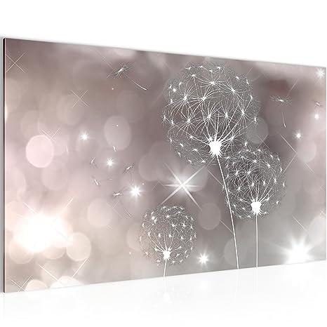 Bild Blumen Pusteblume Wandbild Vlies - Leinwand Bilder XXL Format  Wandbilder Wohnzimmer Wohnung Deko Kunstdrucke Rosa 1 Teilig - MADE IN  GERMANY - ...