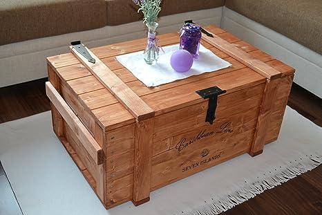 "Caja de madera Mercancías Caja Baúl mesa Shabby Vintage Rústico Caribe ""Carri Caribe"