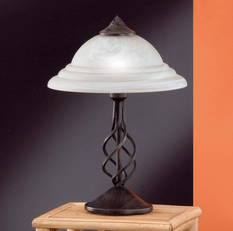 Honsel 56501 Tischleuchte Rostfarbig Antik Amazonde Beleuchtung