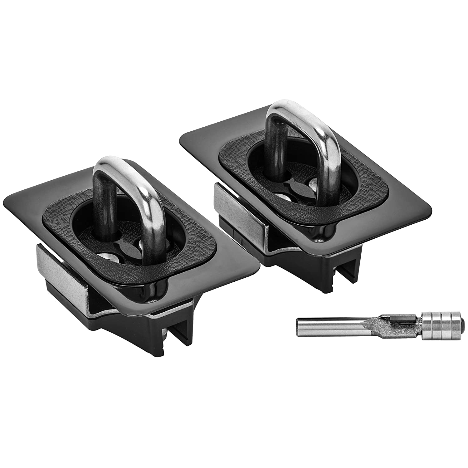 Bull Ring 9074 Black Nickel for 2014-2019 Tundra Crew Max and Nissan Titan- with Router Bits Included