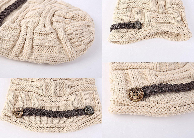 Gorros de punto,TININNA Invierno Sombreros y gorras de lana Tejer ...