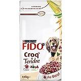 Fido Croq' & Tendre Bœuf Céréales et avec des Vitamines 1,5 kg Croquettes pour Chien Adulte - Pack de 6