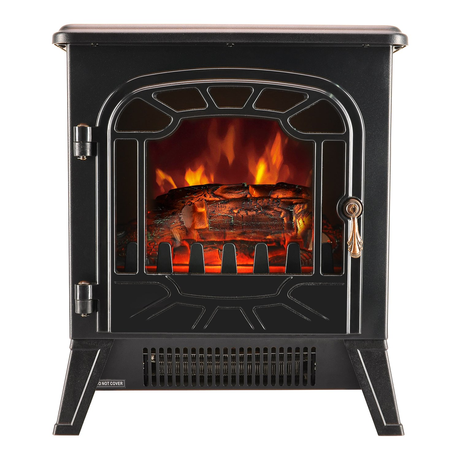 MODERN LIFE Electric Fireplace 1850W Portable Stove Heater Log Burning Flame Effect with Adjustable Thermostat