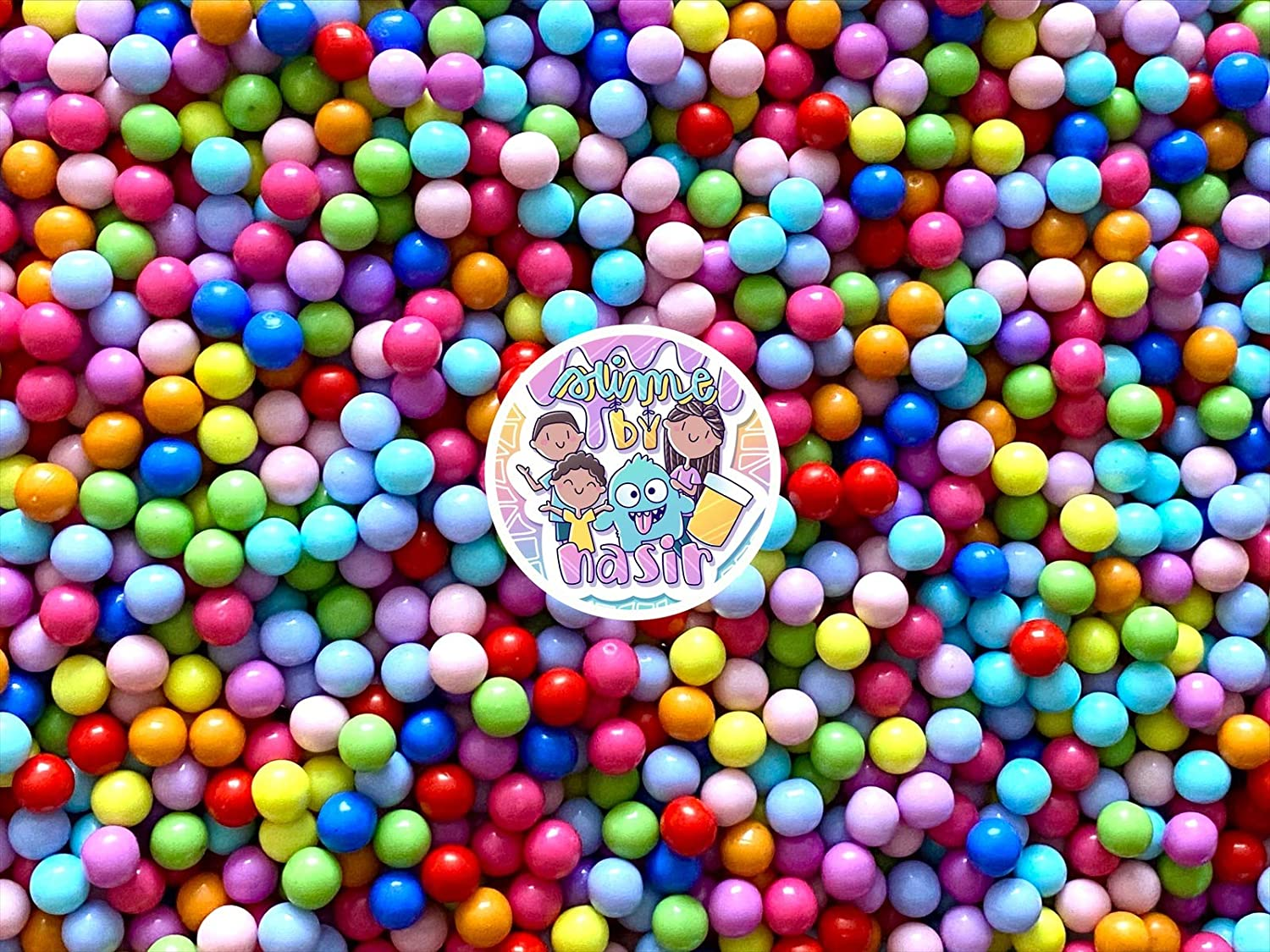 50g Colorful Fake Candy Sweets Sugar Crystals Sprinkles Decoden Resin Cabochons Decorations for Fake Cake Dessert Simulation Food Fake Dessert Polymer Clay (Rainbow Faux Nonpareil 4mm)