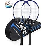 Fostoy Adult Recreational Tennis Racket, 27 inch Tennis Racquet with Carry Bag, Professional Tennis Racket, Good Control Grip