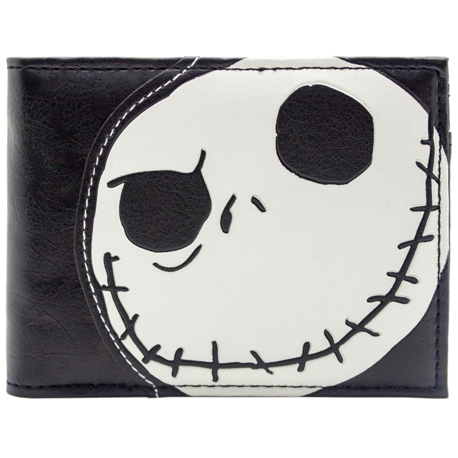 Cartera de Tim Burton Nightmare Before Christmas En relieve Jack Skellington Negro 27759