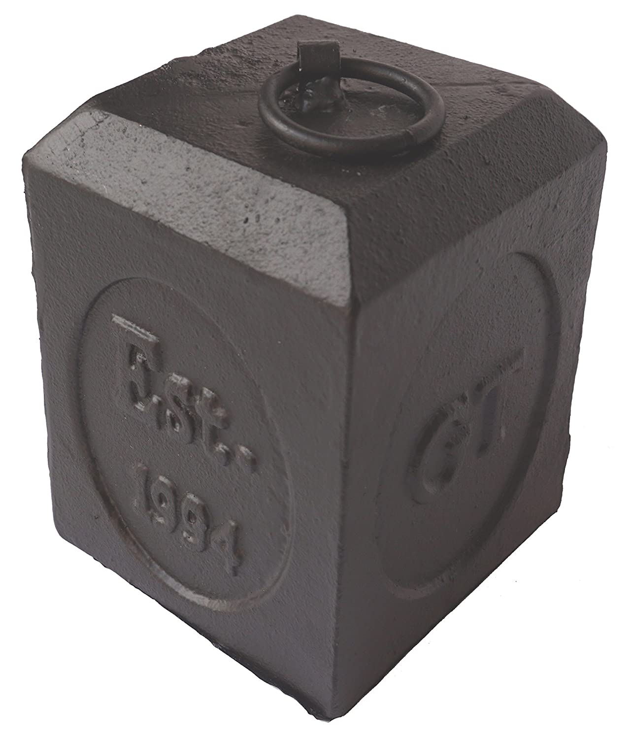 Lulu Decor, Cast Iron Door Stop, Door Stopper, Doorstops (Square 5.20 lbs)
