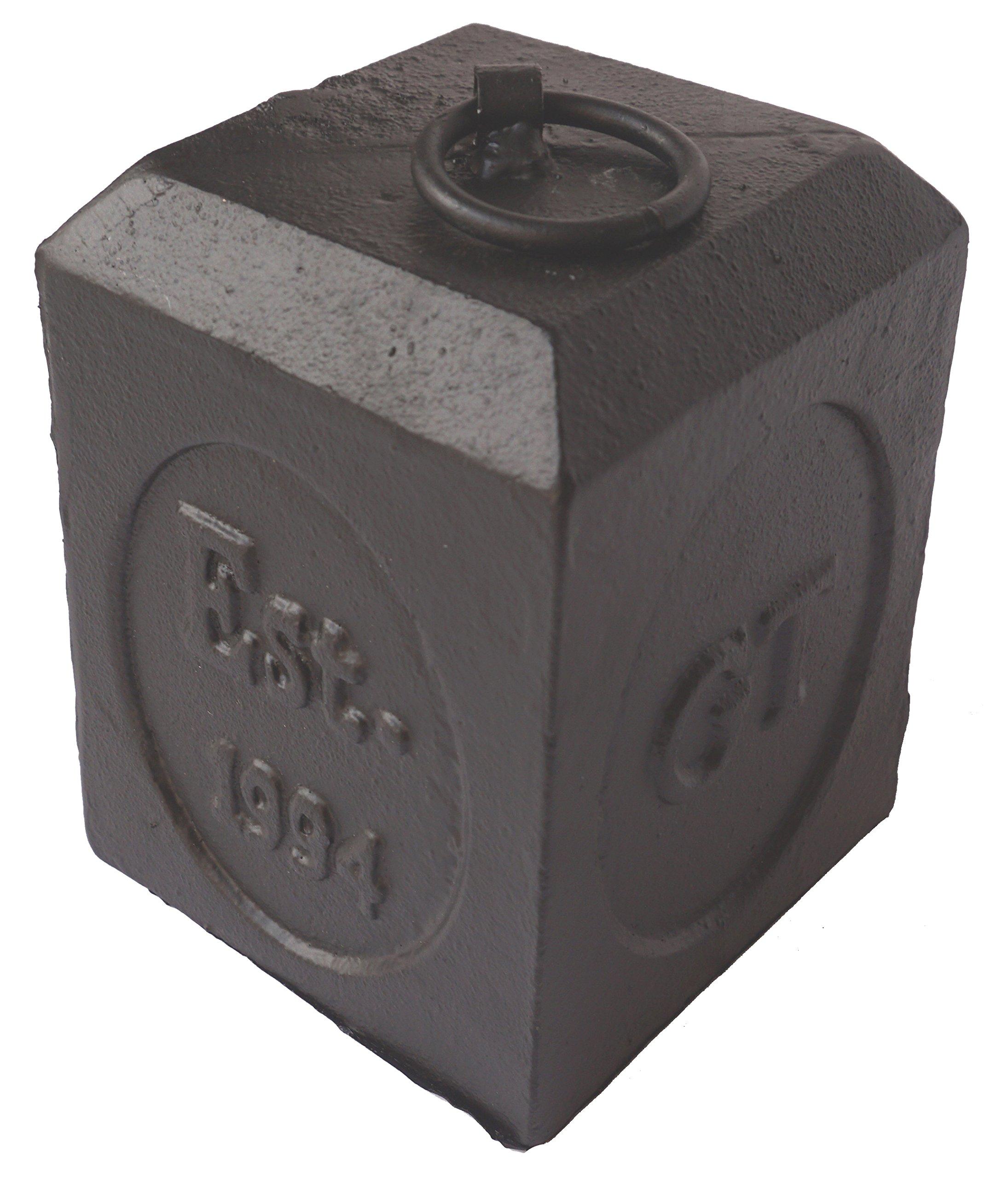 Lulu Decor, Cast Iron Door Stop, Door Stopper, Doorstops (Square 5.20 lbs)