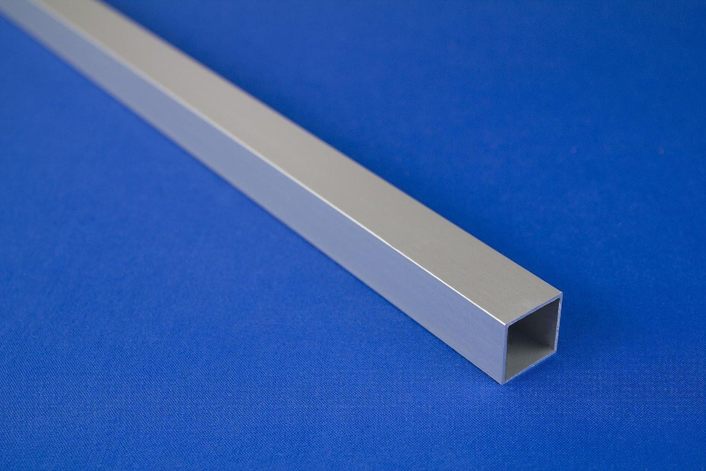 2 Mètres Alu Anodisé BAR Tube Tuyau Différentes Tailles, B53-B56, Couleur: Argent, Dimensions: B55-20 X X 20 1.2 MM