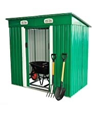 "Outsunny 77""x 48"" Metal Patio Storage Shed Lockable Arrow Shed Tool Yard, Green"