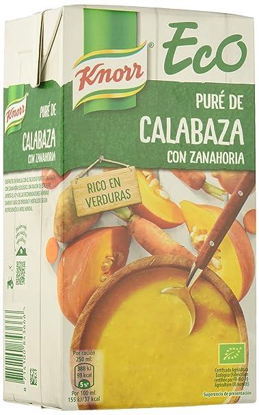 Knorr Eco Puré de Calabaza con Zanahoria - Paquete de 8 x 1 L - Total
