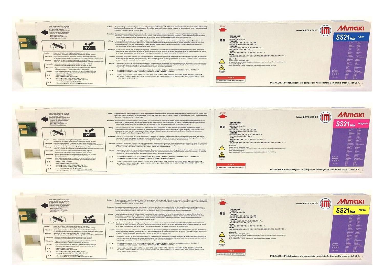INK MASTER SET 3 Cartuccia rigenerata MIMAKI SS21 SPC-0501 CMY per Mimaki JV33 CJV30 JV34 TPC