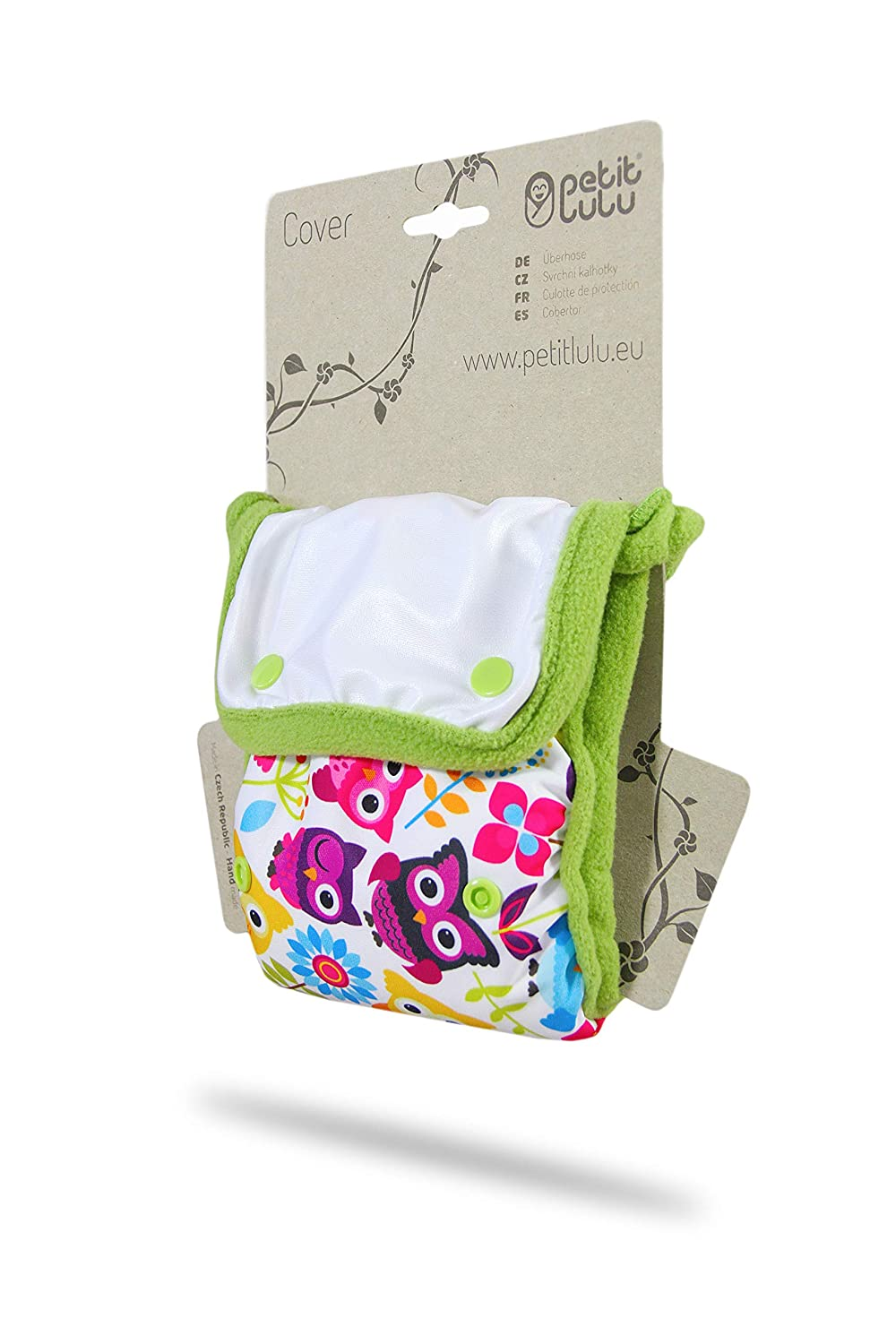 Petit Lulu Minimal Nappy Cover Waterproof Reusable /& Washable Made in Europe Geckos EC Nappy