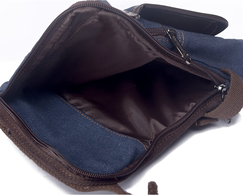 Outreo Sac de Voyage Homme Sac Pochette Sacs Banane Vintage Petit Portefeuille Sac Bourse pour Outdoor R/étro Sacoche Sac de Jambe Sport Bag