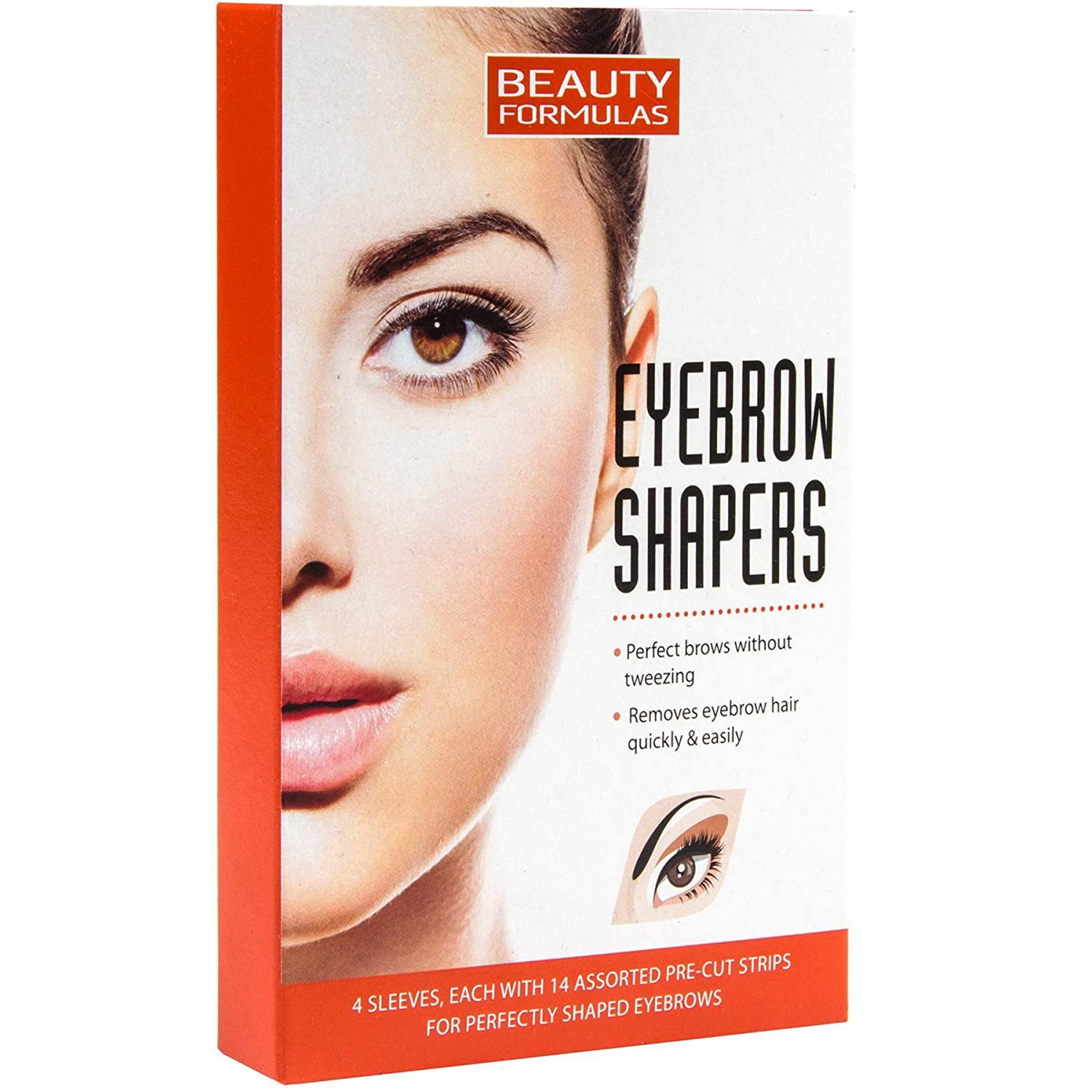 Eyebrow Shaper Wax Strips 56 Pre Cut Strips Unwanted Facial Hair
