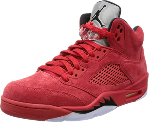Comercio montón Salida  Nike Air Jordan 5 Retro 'Red Suede' - 136027-602 - Size 9 -: Amazon.co.uk:  Clothing