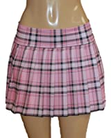 Amazon.com: Pink Plaid Skirt. Sexy Schoolgirl Skirt, Plus Size ...