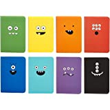 "OOLY 118-MT Pocket Pal Journal Pack of 8, (3.5"" x 5"") - Monster"
