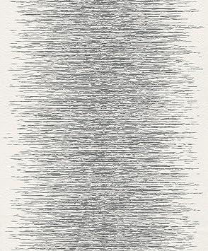 Rasch 413809 Vlies Tapete Muster Struktur Silber Grau Weiß Glanz