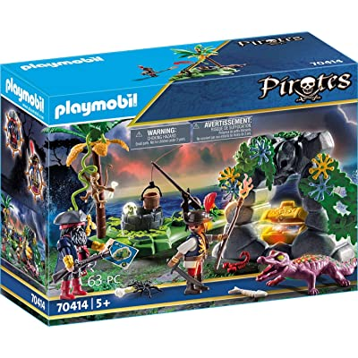 Playmobil Pirate Hideaway 70414 Pirates Playset: Toys & Games