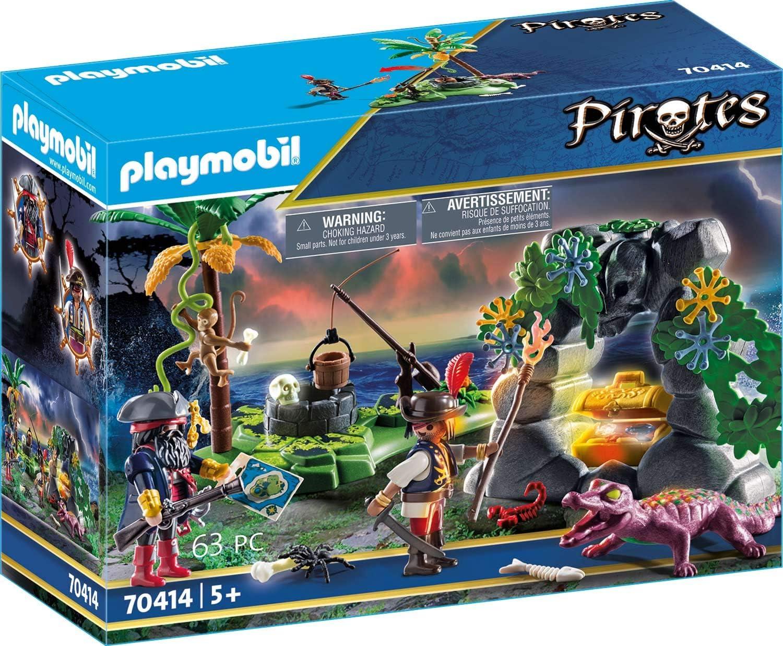 PLAYMOBIL Pirates - Escondite Pirata, a partir de 5 Años, 70414
