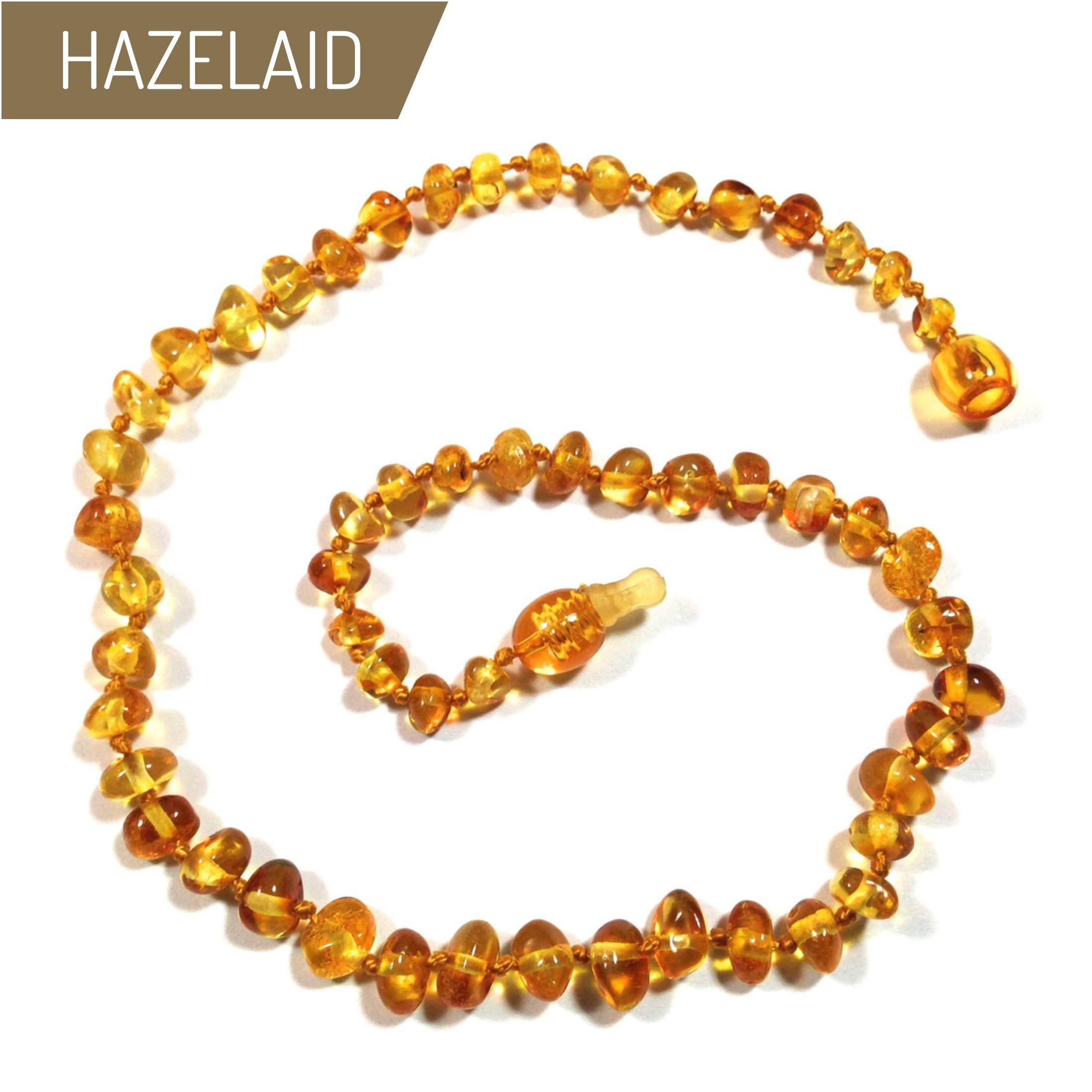 Hazelaid (TM) 12'' Pop-Clasp Baltic Amber Honey Necklace