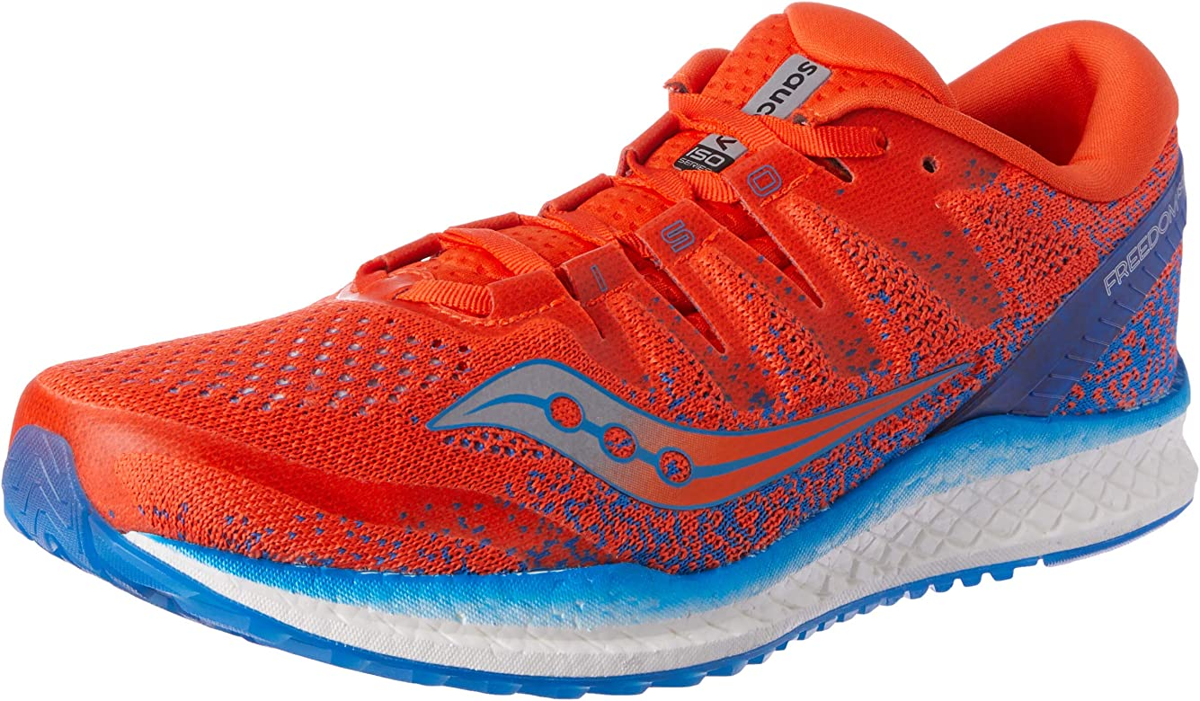 Saucony Freedom ISO 2, Zapatillas de Running para Hombre, Naranja (Orange/Blue 36), 40.5 EU: Amazon.es: Zapatos y complementos