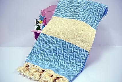 Diamond - Toalla turca para hammam o spa, de algodón puro, para
