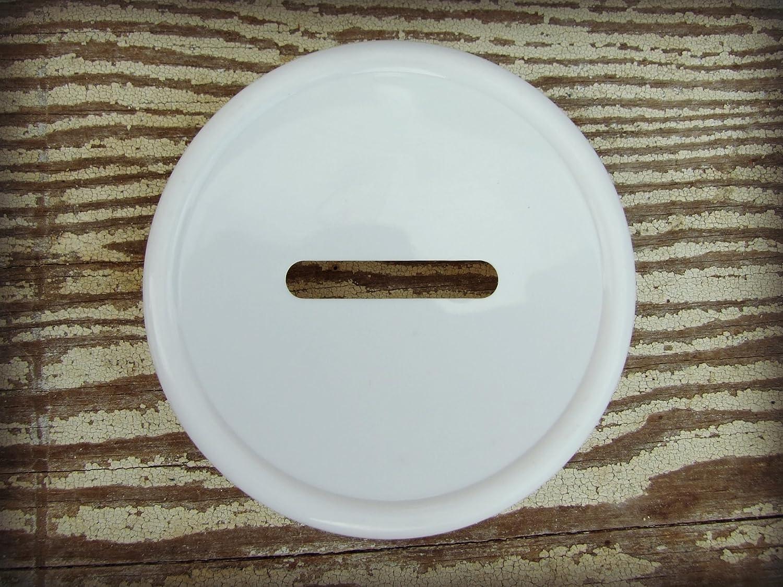 2 Pack 2 wide mouth bank lids Mason Jar Money Bank Lid - - Turn Your Mason Jar Into a Piggy Bank!