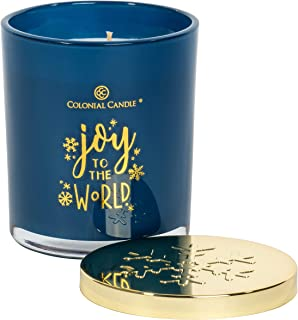 product image for Colonial Candle - Holiday Expressions Collection - Joy to The World - 10 oz. Highly Scented Candle in Painted Glass Jar