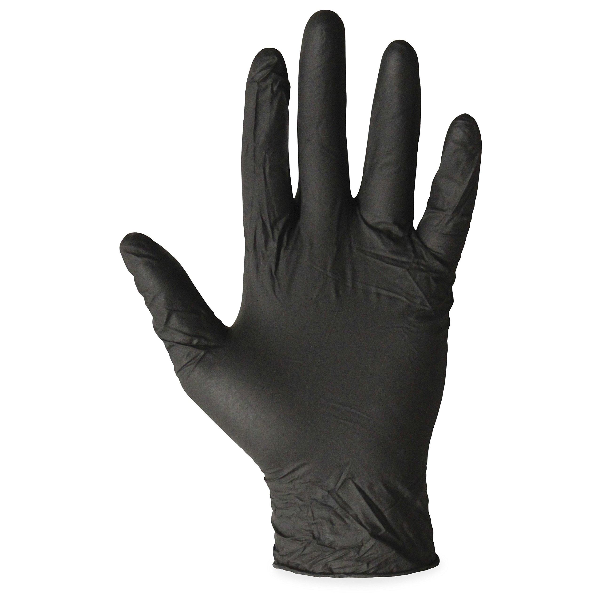 Impact Products 8642M Proguard Disposable Powder-Free General Purpose Nitrile Gloves, Medium, Black, 100Per Box, 10 Boxes Per Case-129379