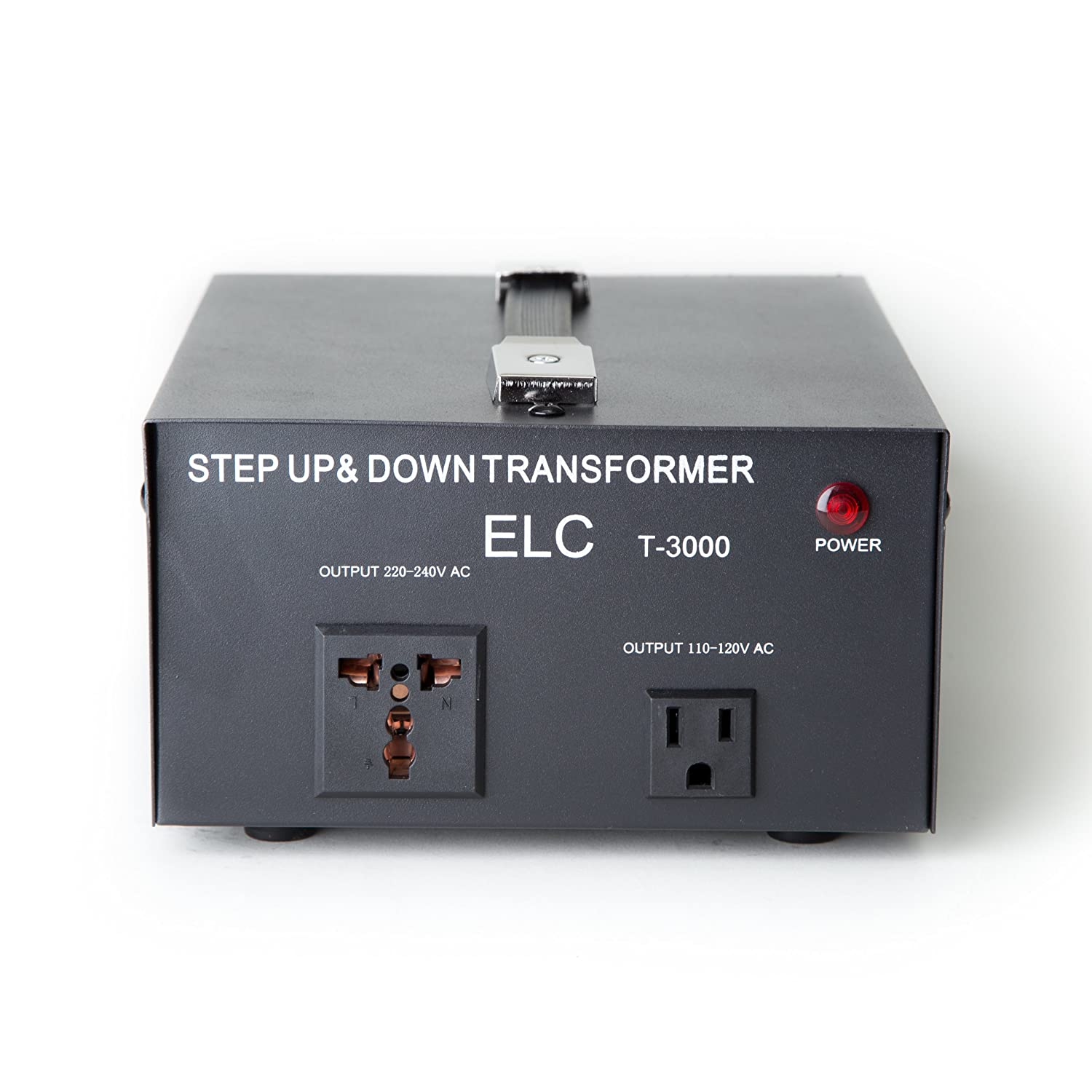 Amazon.com: ELC T-3000 3000-Watt Voltage Converter Transformer - Step  Up/Down - 110V/220V - Circuit Breaker Protection: Home Audio & Theater